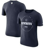New Nike Dallas Cowboys NFL Football Dri-Fit Property t-shirt men's Large Navy