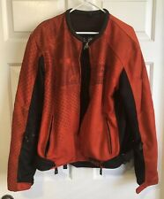 Speed And Strength Run With The Bulls Red Mesh Motorcycle Jacket XLarge