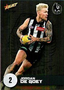✺New✺ 2021 COLLINGWOOD MAGPIES AFL Card JORDAN DE GOEY Footy Stars Prestige
