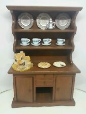 1:12 Dollhouse Miniatures Wooden Hutch w/Accessories and Two Artist Made Pies