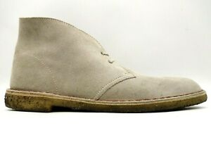 Clarks Originals Desert Beige Suede Leather Lace Up Chukka Ankle Boots Mens 13 M