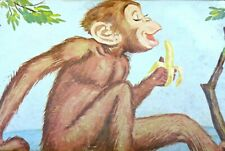 Vintage Tuco Puzzle Miniature Monkey w/Banana 30 Large Tripl-Thick Pieces