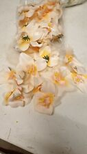 Artificial Flowers White and yellow