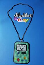 BMO Adventure Time perler kandi necklace, rave, PLUR, EDC, EDM