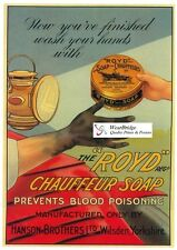 VINTAGE BRITISH ADVERTISING POSTER: THE 'ROYD' CHAUFFEUR SOAP -