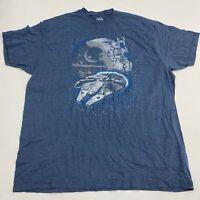 Star Wars T Shirt Men's Size 2XL Short Sleeve Blue Graphic Tee Cotton Blend