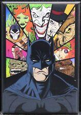 """Batman & Villains 2"""" X 3"""" Fridge Magnet. The Joker Poison Ivy The Penguin"""