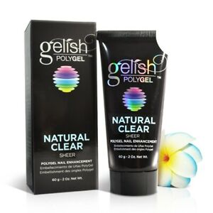 Nail Harmony Gelish PolyGel Natural Clear 2oz #1712001