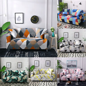 Stretch Sofa Slipcovers Elastic Couch Sofa Cover for Living Room 1/2/3/4 Seater