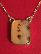 Tiffany & Co Sterling Silver Taurus, Capricorn Moss Agate Pendant Necklace.RARE!