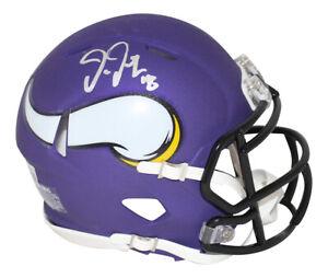 Justin Jefferson Autographed Minnesota Vikings Speed Mini Helmet BAS 31602