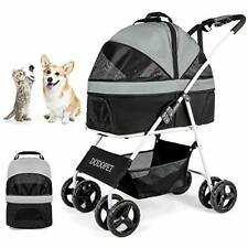 Dog/Cat/Pet Stroller for Small-Medium Pet, 3-in-1 Luxury Travel Carriage Black
