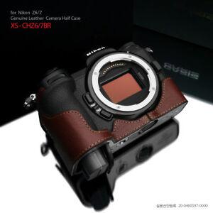 Gariz XS-CHZ6/7BR Genuine Leather Half Case for Nikon Z7 / Z6, Brown