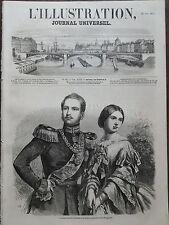 L' ILLUSTRATION 1857 N 747 PRINCE FREDERIC GUILLAUME DE PRUSSE ET VICTORIA