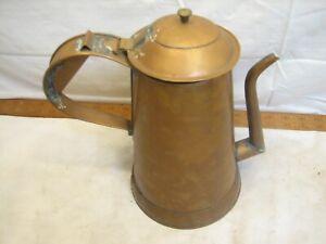 Hand Made Lebanon PA Folk Art Copper Coffee Tea Pot Pitcher Carafe Teapot