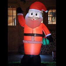 Weihnachtsmann 240 cm groß Santa Claus Figur Weihnachten aufblasbar beleuchtet