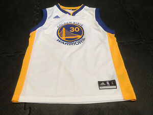 Adidas NBA Jersey Golden State Warriors Stephen Curry White Youth Large