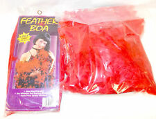 Red Feather Boa Halloween Costume Accessory 5 Feet NIP