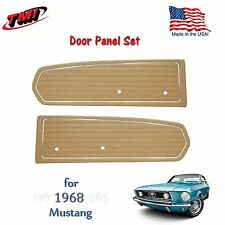 Nugget Gold Door Panels For 1968 Mustang Pair by TMI-Made in the USA  In Stock!!