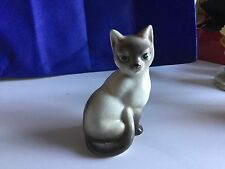 OCCUPIED JAPAN PORCELAIN SIAMESE CAT- COLLECTIBLE-1946-$50