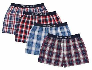 Fabio Farini Men's woven boxer shorts pack of 4