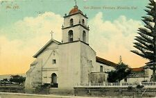 DB Postcard CA G595 San Buena Ventura Mission Cancel 1913 Church Bells Tower