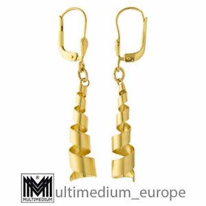 333 Gelbgold Ohrringe Spirale 8ct gold earrings zirconia 8k 🌺🌺🌺🌺🌺