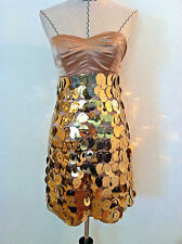 Express womens dress mini gold strapless cocktail party embellish straight wiggl