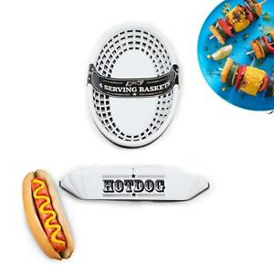 Hot Dog Tray And Food Baskets Outdoor Dining BBQ Garden Party Alfresco dining