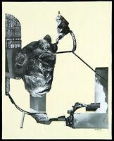 Kunst in der DDR. Übermalte Collage von Willy WOLFF (1905-1985 D), handsigniert