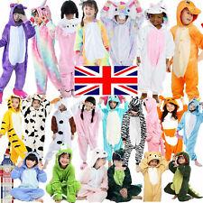 Kids Unisex Pajamas Cosplay Kigurumi Onsie19 Hooded Animal Fancy Dress Costume ^