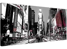Times Square New York Canvas Wall Art Set of 3 for your Bedroom