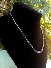 6 mm Elite Shungite Necklace Noble Shungite Bead Necklace Chain Karelia Reiki.