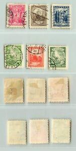 Latvia 1934 SC 174-179 used . rta5999