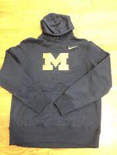 NWT Michigan Wolverines Team Issued Mens Nike Fleece Hoodie Size Large $60