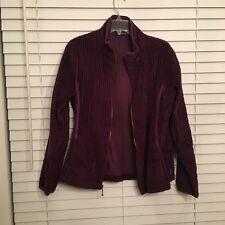 Woolrich Soft Wide Wale Corduroy Style Purple Zipfront Womens Jacket Size m
