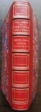 PAUL LACROIX : DIRECTOIRE, CONSULAT EMPIRE. BELLE RELIURE PETIT. MAROQUIN, 1885