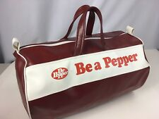 "VTG 70s Dr Pepper Vinyl Gym Duffle Bag ""Be a Pepper"" Ad Campaign"