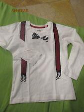 ❤️ süßes LA-Shirt Gr. 110 von Palomino C&A weiß mit Hosenträgern ❤️ Neu o.E.