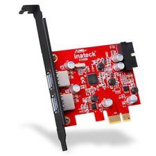 Inateck 2-Port PCI-E USB 3.0 Express Card, Mini PCI-E USB 3.0 Hub Controller Ada