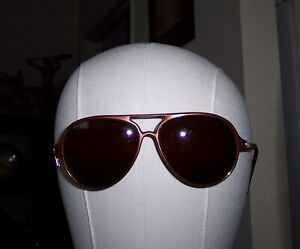 1984 Vintage VUARNET  PX 374 sunglasses. Brown/brown OLYMPIC ISSUE. Excellent