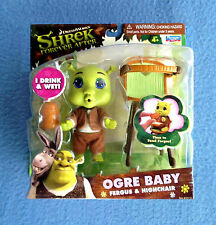 SHREK OGRE BABY FERGUS AND HIGH CHAIR 5 INCH FIGURE PLAYMATES 2010 HIGHCHAIR
