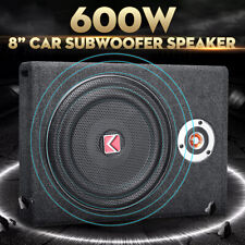 600W 8'' Auto Lautsprecher Ultra-Thin Active Untersitz Subwoofer Bass Sub Box