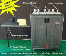 Mobile Concession Sink 4 Compartment With Removable Shelf Soap Dispenser Amp Wheels