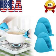 Mini Silicone Oven Gloves Mitts Pot Holder Heat Resistant BBQ Kichen Tool