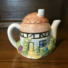 Vintage Small Grass Roof Round Hut Teapot