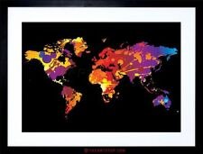 World Map Framed Decorative Posters & Prints