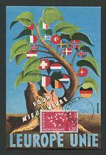 Italia MK 1962 EUROPA CEPT maximum carta carte MAXIMUM CARD MC cm d2261