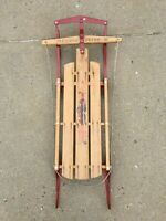 "Vintage 48"" Flexible Flyer III Snow Sled Metal & Wood"