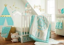 Levtex Baby Little Feather 5 Piece Crib Bedding Set - Aqua - NEW - RETAIL 179.99